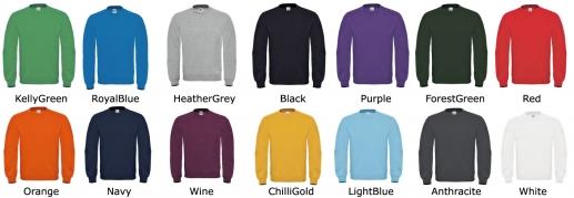 8 Tailles disponibles dans les 14 couleurs ! De XS à 4XL