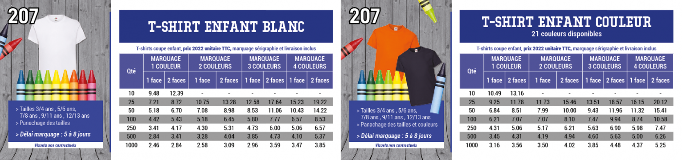Tee-shirt fille 165 grs Fruit Of the Loom, coupe fille