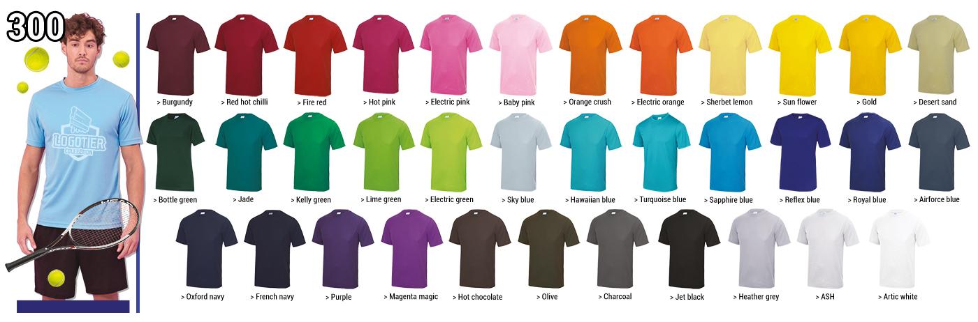 Tee-shirts techniques  100 % polyester  140 grs ,un choix de couleurs unique, une coupe homme et une coupe femme Impression en sérigraphie de votre logo en 1 couleur ( foncé de préférence), dans nos ateliers . tailles    XS- S-M-L-XL -XXL panachages des tailles possibles.