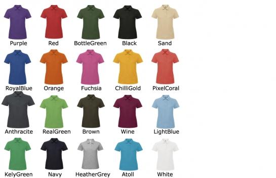 20 couleurs pour ce polo piqué,disponible en 7 tailles  : XS-S-M-L-XL-2XL-3XL