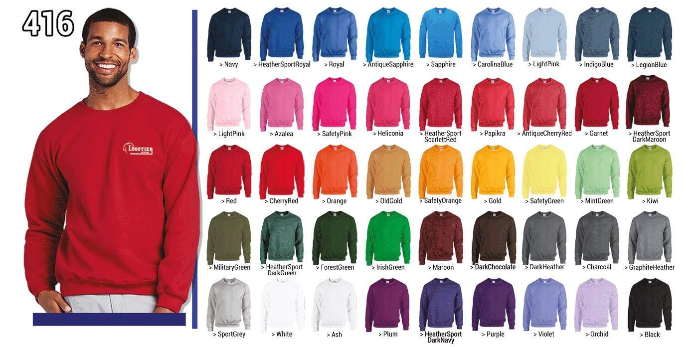 Sweat-shirt 280 g/m2 ,80% coton, 20% polyester manches set-in bord côte au col, poignets et à la base avec de l' élasthanne