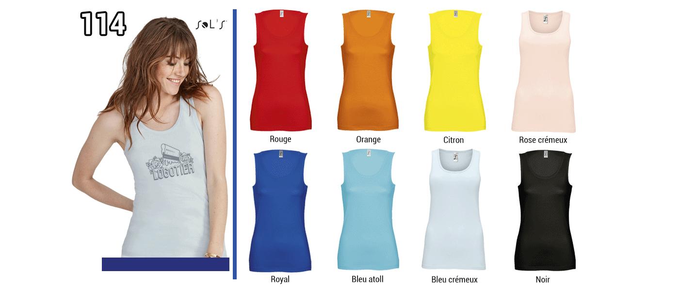 DEBARDEUR FEMME  150 GRS // Modèle 4  Grammage : 150 grs - Composition : 100% coton semi-peigné Ringspun - Jane Sol's Colletage en côte Tailles : S - M - L - XL