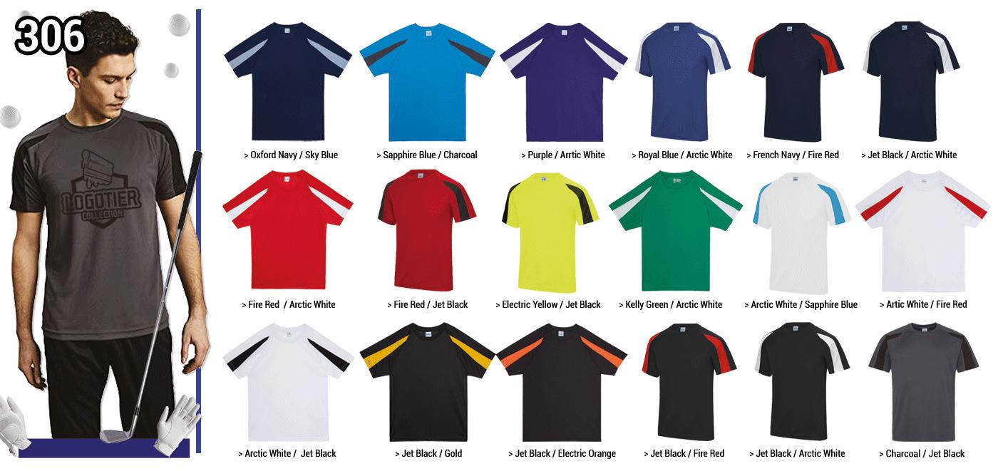 TSHIRT TECHNIQUE BICOLORE HOMME 140 GRS // Modèle 7  Grammage : 140 grs - Composition : 100% polyester Manches bicolore Tailles : XS - S - M - L - XL - 2XL