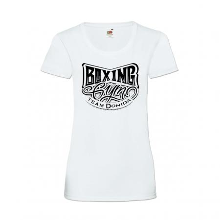 Tshirt blanc, Femme Marquage Noir